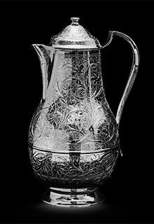 Кувшин серебряный без чернения «Узоры»
