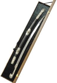 Кавказская сабля отделанная кубачинским серебром