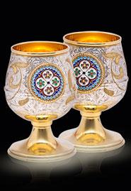 Позолоченные серебряные бокалы