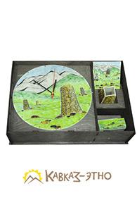 Настольный набор с настенными часами «Горный сюжет»