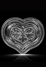Серебряный поднос-сердце