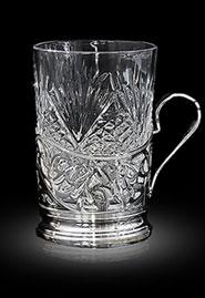Серебряный подстаканник со стаканом