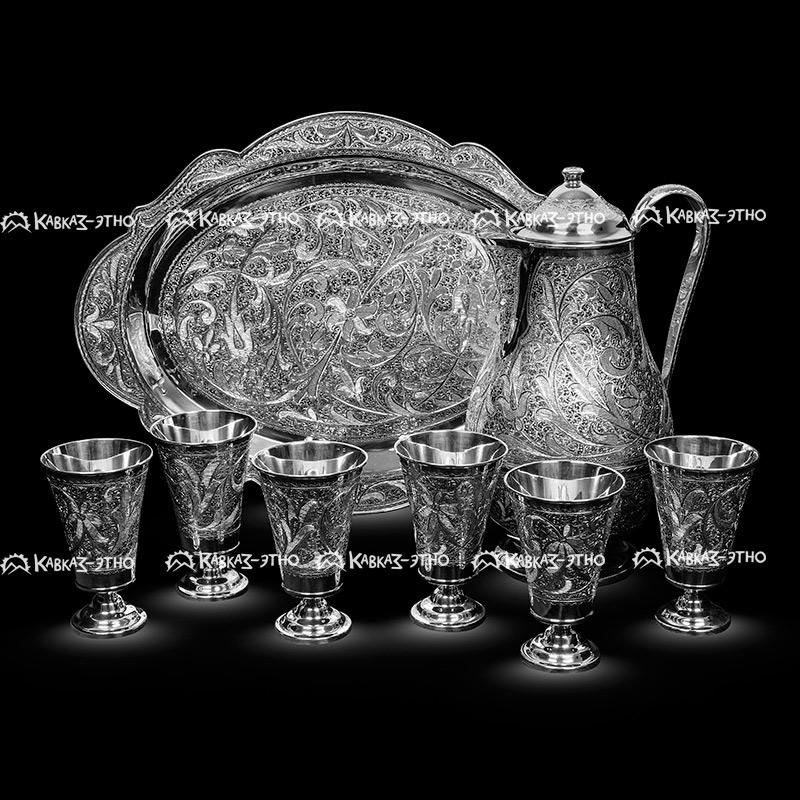 Кубачинская посуда из серебра