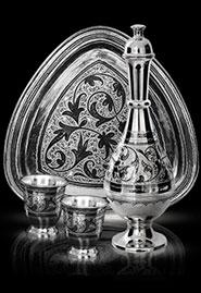 Водочный набор из кубачинского серебра