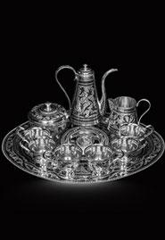 Серебряный сервиз кофейный на шесть персон