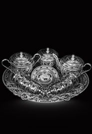 Серебряный чайный сервиз на шесть персон