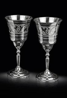 Серебряные винные фужеры (бокалы)