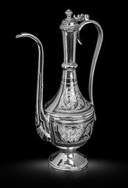 Кувшин коньячный серебряный от кубачинских мастеров