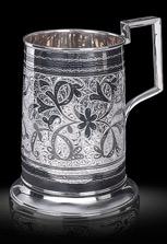 Серебряная кружка для пива. Кубачинское серебро