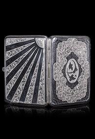 Кубачинский серебряный портсигар