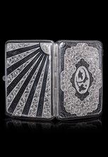 Серебряный портсигар ручной работы