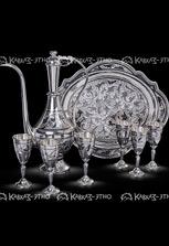 Коньячный серебряный набор от кубачинских мастеров