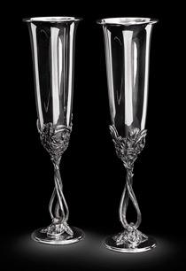 серебряные фужеры для шампанского