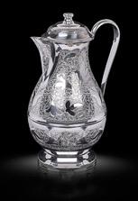 Кувшин из кубачинского серебра без чернения