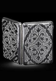 Портсигар из серебра «Кубачи»