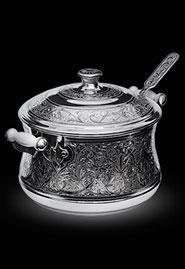 Серебряная супница ручной работы