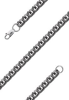 Серебряная цепь мужская «Бисмарк» 60 см