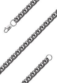Мужская серебряная цепь «Бисмарк», 60 см