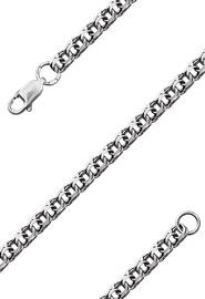 Мужская цепь из серебра «Бисмарк», 45 см