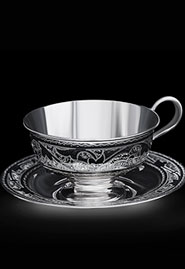 Чайный набор ручной работы из серебра