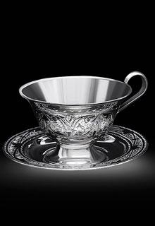 Серебряная чайная пара «Грация»