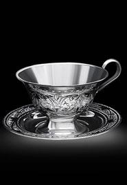Чайная пара из серебра «Грация»
