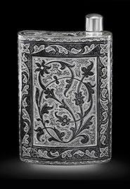 Серебряная фляга «Кубачи»