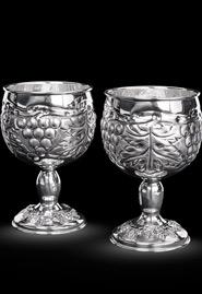 Фужеры из серебра «Виноград»