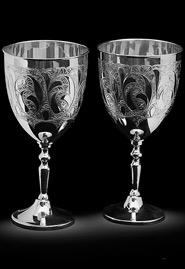Серебряные фужеры для вина