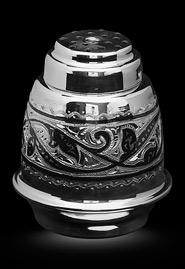 Солонка серебряная с гравировкой. Кубачи