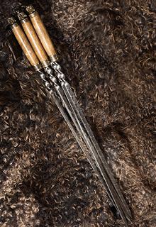Набор шампуров на деревянных ручках «Барашки»