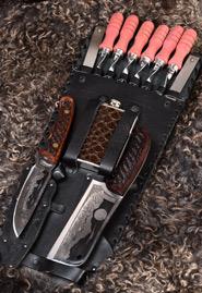 Шашлычный набор «Кизляр» с ножами с инкрустированными ручками