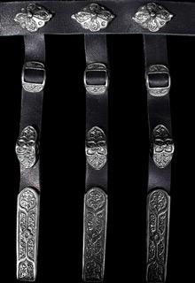 Кавказский пояс серебряный мужской