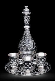 Серебряный водочный набор «Самарканд»