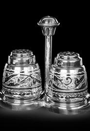 Набор для соли и перца. Кубачинское серебро