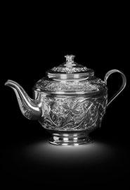 Чайник заварочный из серебра. Кубачи