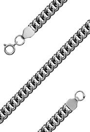Серебряная цепь мужская «Змея», 50 см
