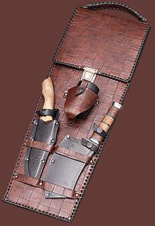Шампуры подарочные с кизлярскими ножами