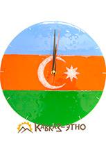 Настенные часы «Флаг Азербайджана»