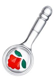 Ложка-загребушка мини серебряная с эмалью