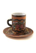 Керамическая кружка с блюдцем «Армения»