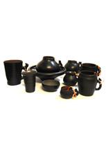 Набор керамической посуды в этническом стиле