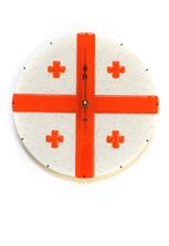 Круглые часы «Грузинских флаг»