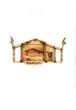 Деревянное панно «Изба РЕКОМ»