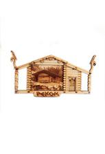 Магнит деревянный «Реком», малый