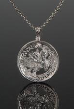 Серебряный медальон Уастырджи с перфорацией