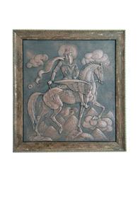 Панно «Уастырджи на коне»