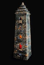 Подсвечник «Вайнахская башня» керамический