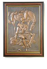 Кавказское панно «Воин сидящий на камне»