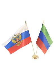 Пара флагов настольных: российский и дагестанский
